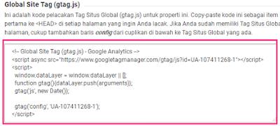 Cara Mendaftar Dan Memasang Google Analytics Di Blog 11