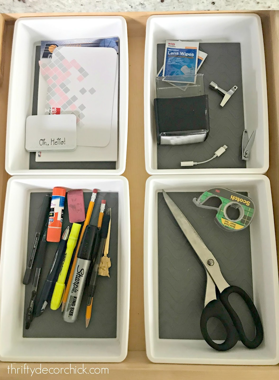 Tips for organizing and decluttering the junk drawer