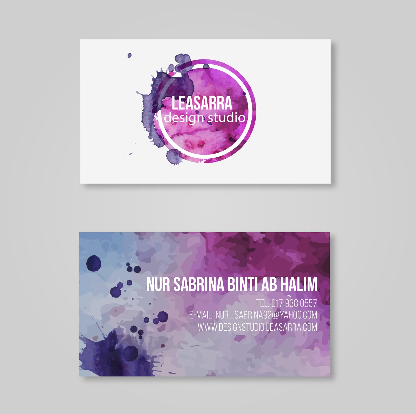 DESIGN BUSINESS CARD MALAYSIA - PRINTING MURAH - rihahalim