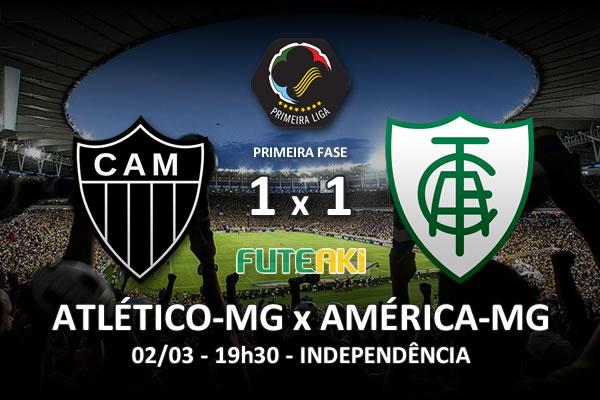 Veja o resumo da partida com os gols e os melhores momentos de Atlético-MG 1x1 América-MG pela 3ª rodada da Copa Sul-Minas-Rio 2016.