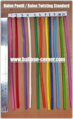 Balon Pentil / Balon Twisting Standard (Satu Warna)