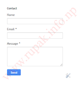 How To Add Contact Form Widget on Blogger?