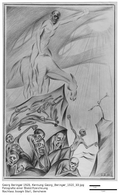Georg Beringer - Religiöse Bleistiftzeichnungen 1920, Nachlass Joseph Stoll, Bensheim