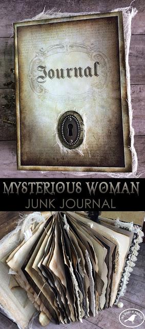 Mysterious Woman Journal from My Porch Prints