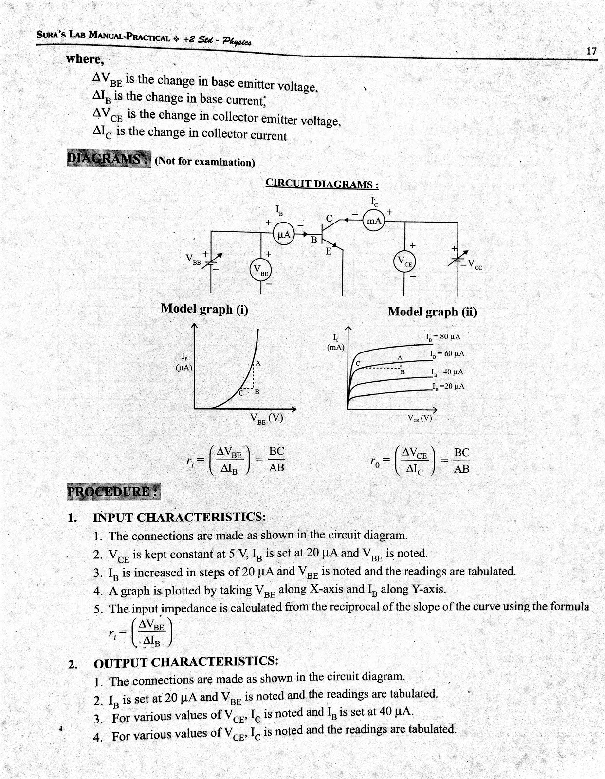 Subramani Physics- New pattern Practicals & Model papers