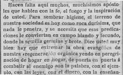 Fragmento de la carta que el doctor Pulido le envía a Rosario de Acuña