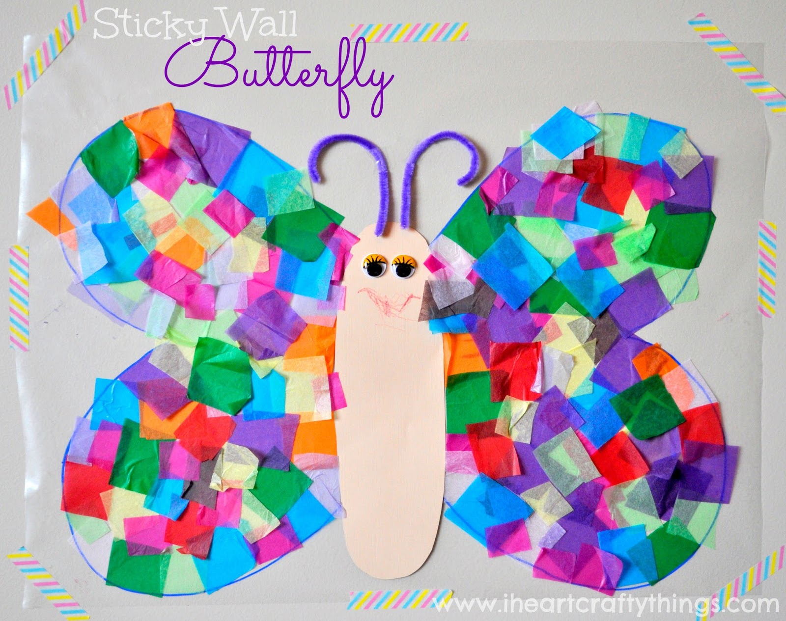 I Heart Crafty Things Stained Glass Glitter Butterfly