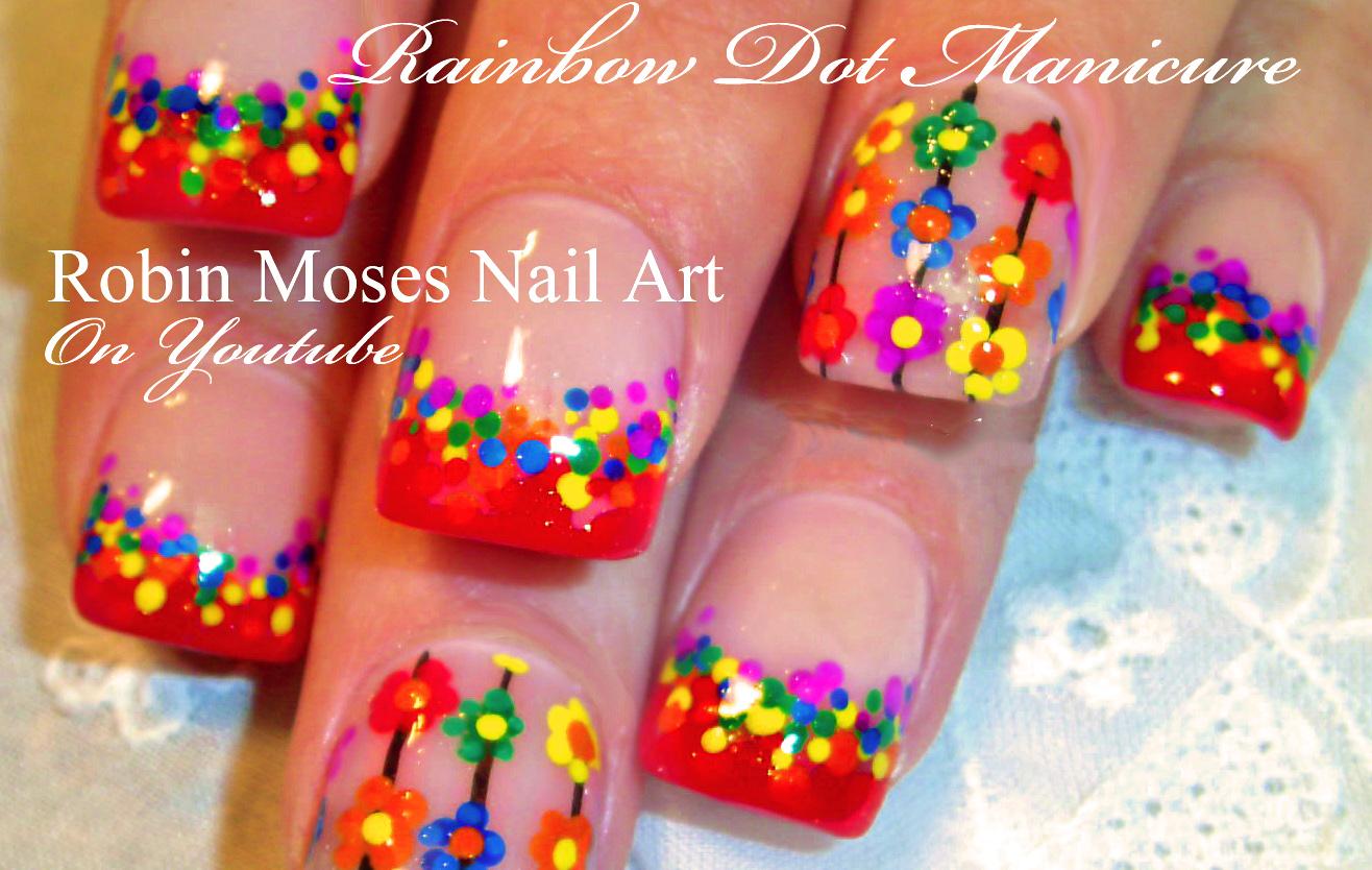 Nail Art By Robin Moses Easy Matte Rainbow Nails Rainbow Nails