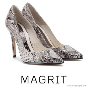 Queen Letiza wore MAGRIT Snake Printed Pumps