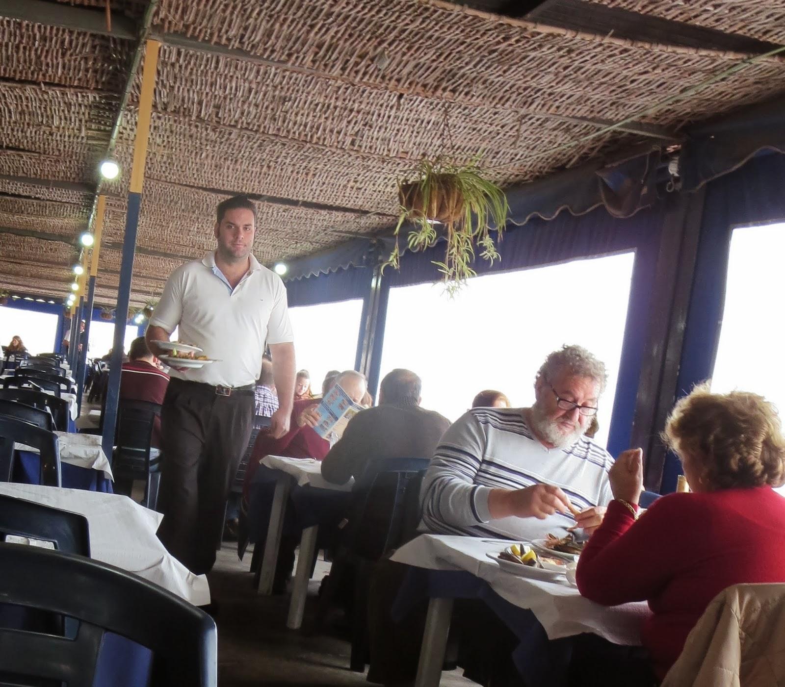 Operatic Waiter at Restaurante El Tintero in Málaga, Spain