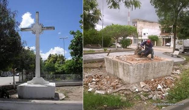 Marco Histórico e religioso de Santa Cruz do Capibaribe é demolido
