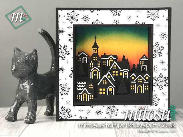 Stampin' Up! Hometown Greetings U Fold Shadow Frame Buy Stampinup Craft Supplies from Mitosu Crafts UK Online Shop 24/7