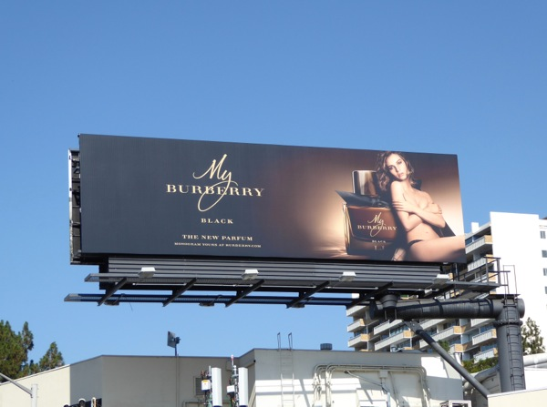 My Burberry Black fragrance billboard