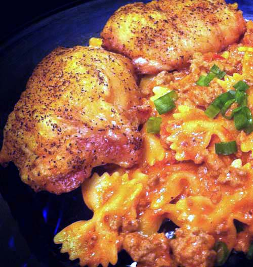 Baked Chicken and Pasta