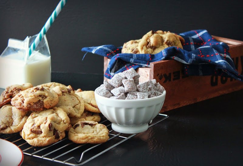Puppy Chow Chocolate Chip Cookies, easy chocolate chip cookies