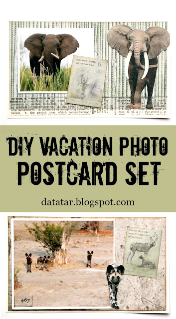 DIY Vacation Photo Postcard Set Tutorial by Dana Tatar for FabScraps