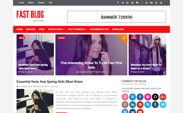 Fastblog blogger template