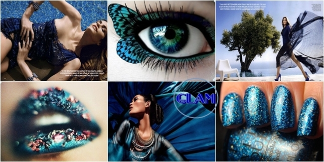 dark blue glamorous visual inspiration