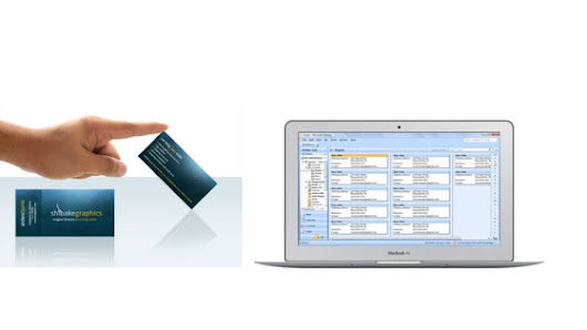 Scan Business cards to Outlook in seconds . .