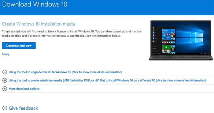 Download tool now par click kare, Download Windows 10