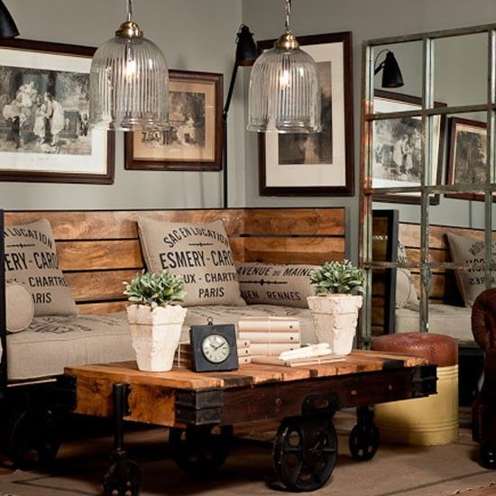 urban rustic living room decor ideas - tracy collin blog