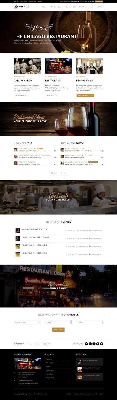 Premium Restaurant and Cafe WordPress Themes 2015