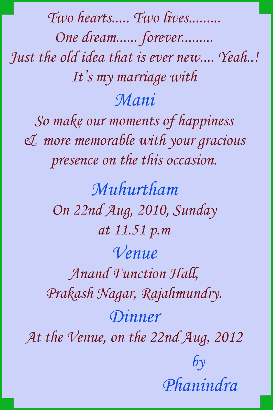 Invitation Cards For Vastu Shanti View Original Updated On 10 4