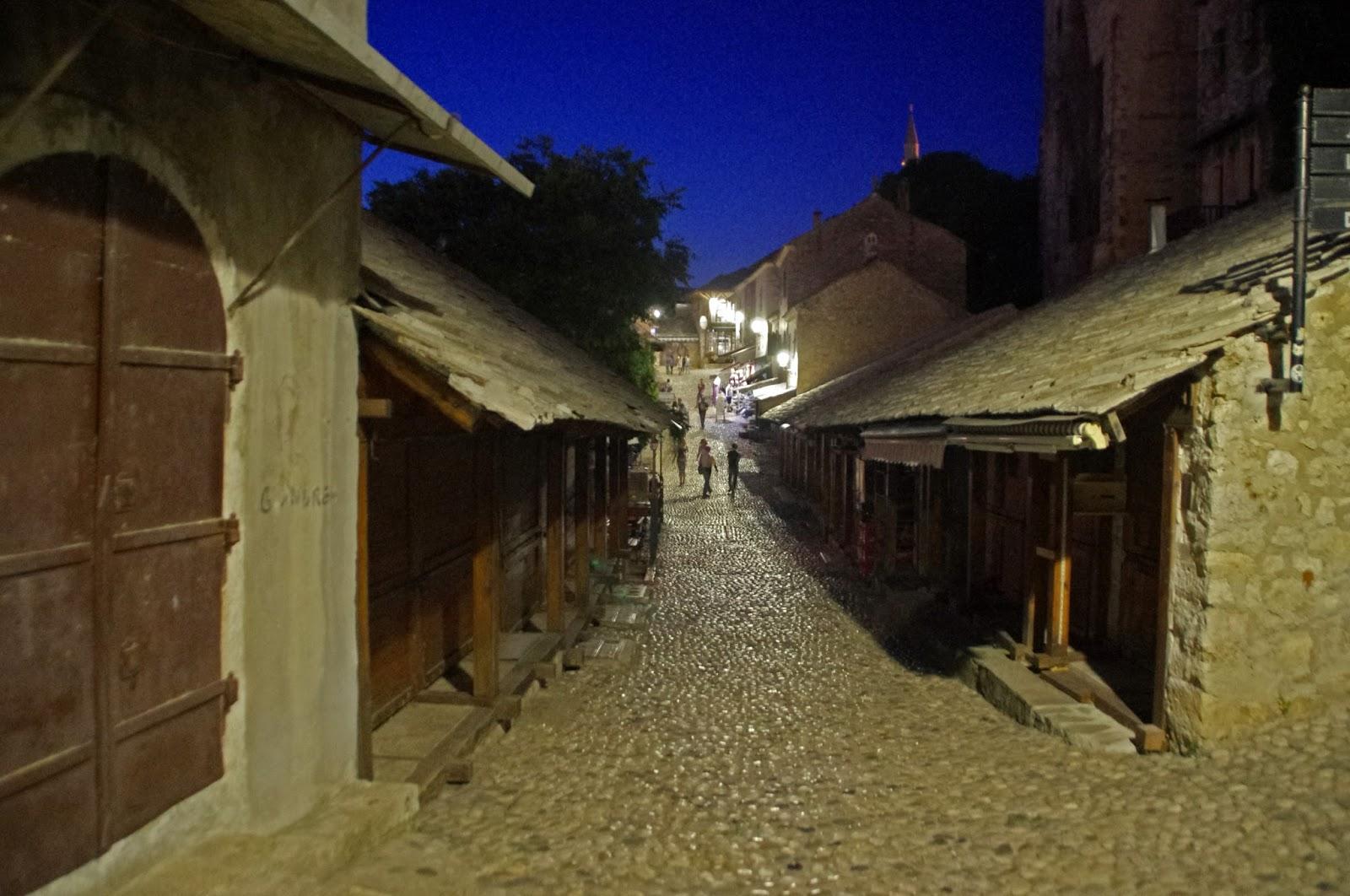 Old Town Mostar at night