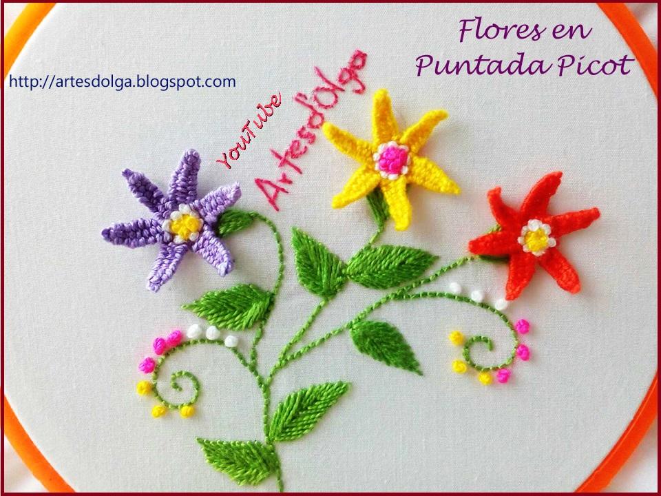 Artesd\'Olga: Flores en Puntada Picot | Artesd\'Olga