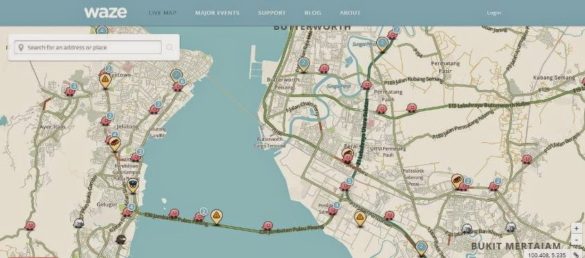 Penang Talks: Live Traffic: Waze