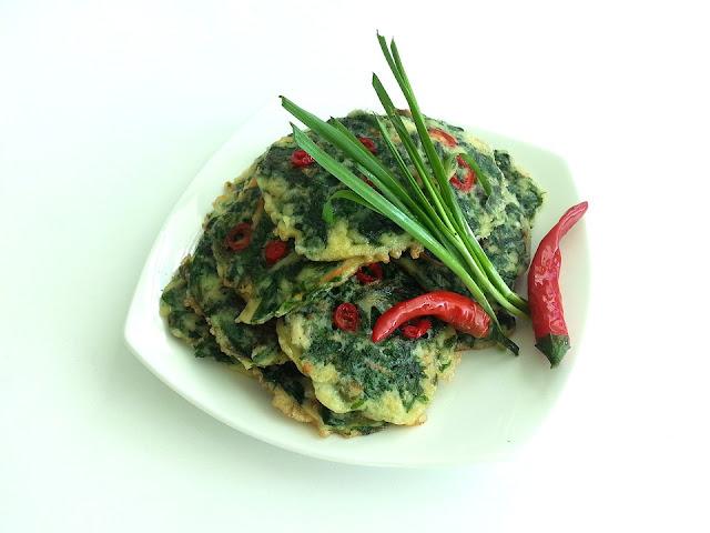 croquettes d'épinards épicées, veganes, végétariennes