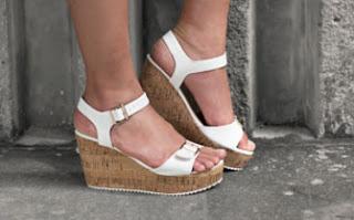 Fashion wanita sepatu wedges