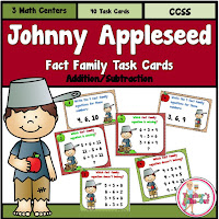 Johnny Appleseed Math Task Cards