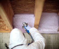 contractor insulating house