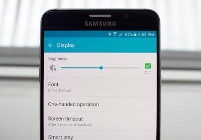 Samsung, Ayarlar, Samsung ayarları, Samsung settings, Smart phone, Akıllı telefon, Ekran, Ekran parlaklığı, Brightness, Brightness settings