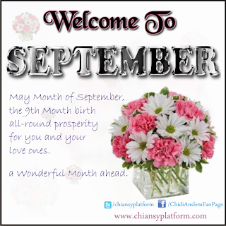 Happy New Month, Welcome To September