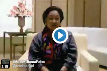 Video: Megawati Memalas Diri Minta Didukung, Netizen: Ora Sudi!