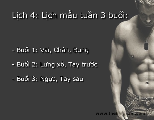 Lich tap the hinh nam