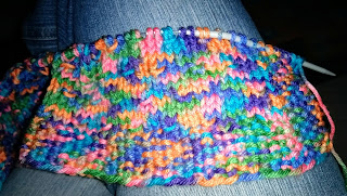 Incomplete knitting pattern using Gumdrop yarn
