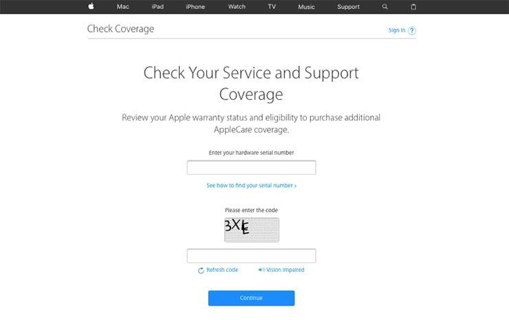 Cara Mudah Mengecek Garansi iPhone, iPad, iPod, Watch, TV dan Mac