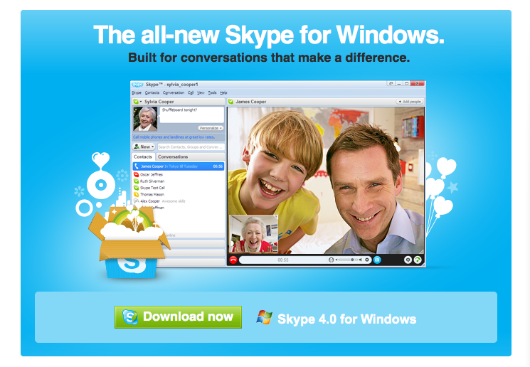 Free Download Skype for windows and talk skype to skype free