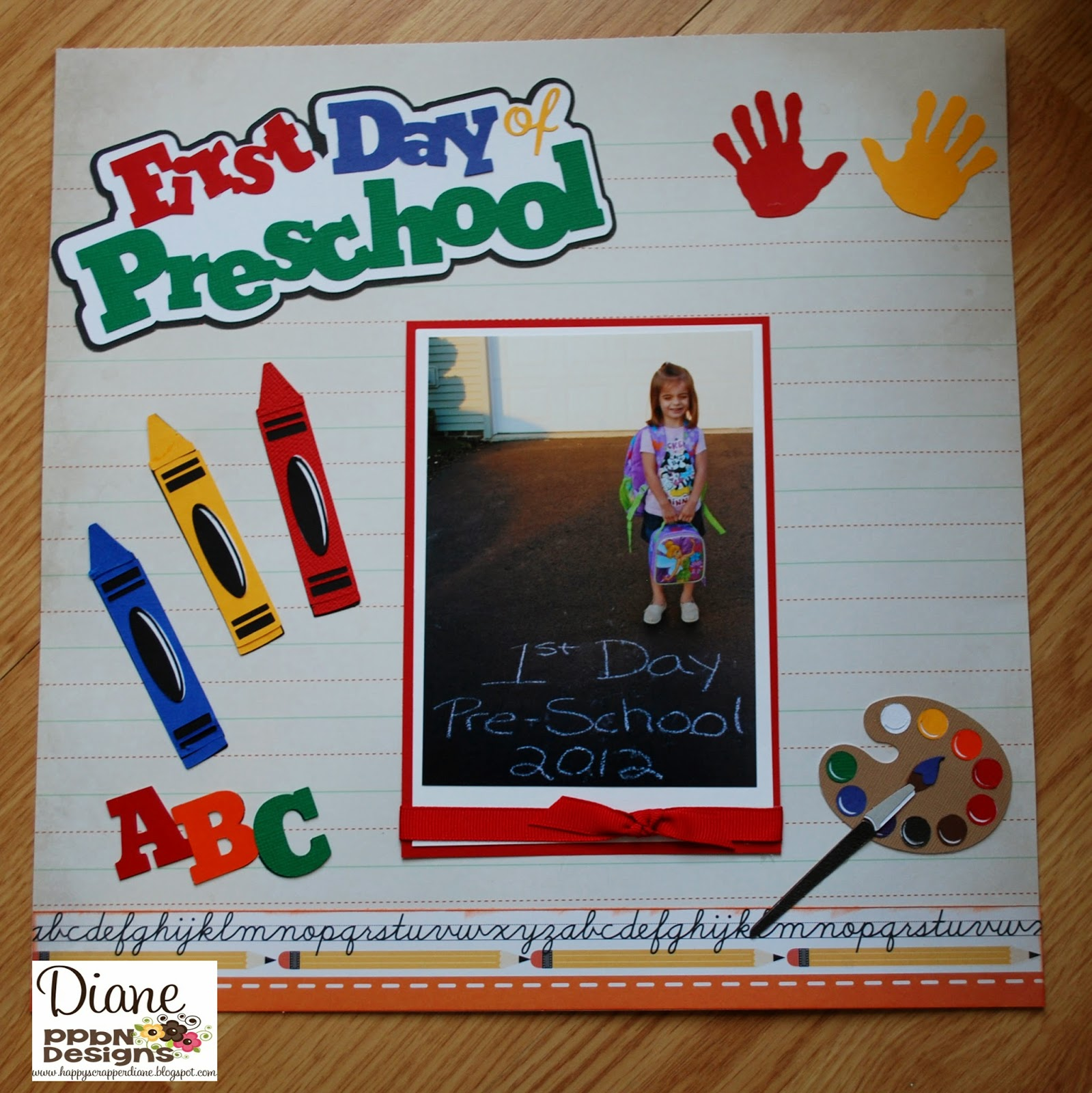 PPbN Designs Blog: First Day Of Preschool