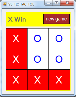 Make A Tic Tac Toe Game In Visual Basic.Net