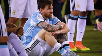 Messi Putuskan Mundur Dari Timnas Argentina Setelah Kalah Dari Chile
