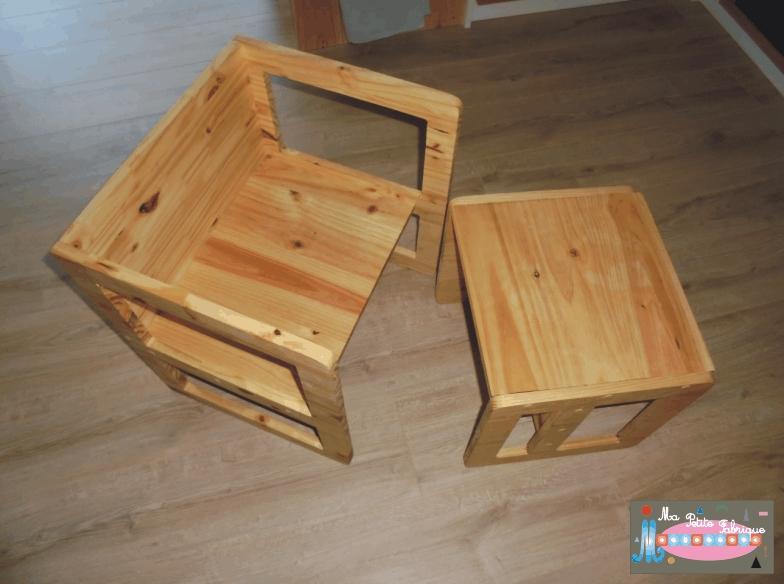 Ma petite fabrique montessori chaise et table montessori - Table basse qui se transforme en table haute ...