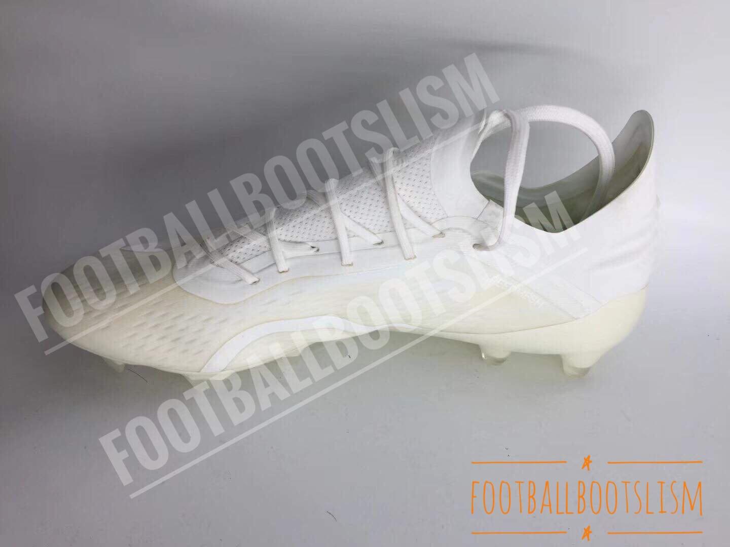 5ed64b7eb Tech-wise, the whiteout Adidas X 18 soccer cleats are the same as the  launch paint job. Made for ultimate speed, the Adidas X 18.1 soccer shoe  features a ...