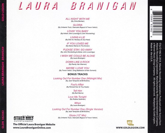 LAURA BRANIGAN - Branigan [Remastered & Expanded Edition] back