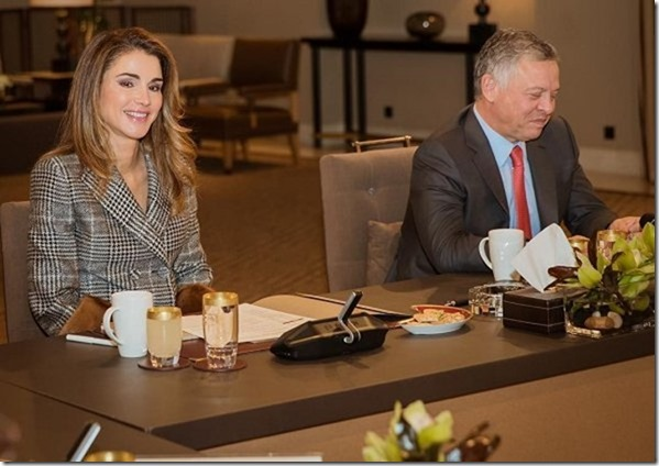 King Abdullah And Queen Rania Attended The Meeting of NCHRD