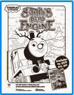 Thomas and Friends: Santa's Little Engine Coloring Sheet