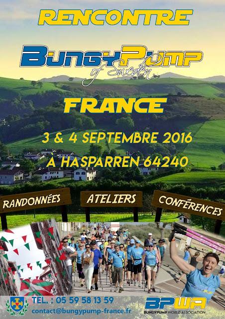 Rencontre Bungy Pump France 3-4.9.2016 à HASPARREN affiche